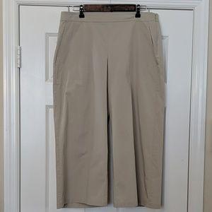 Eileen Fisher Organic Cotton Wid Leg Cropped Pants
